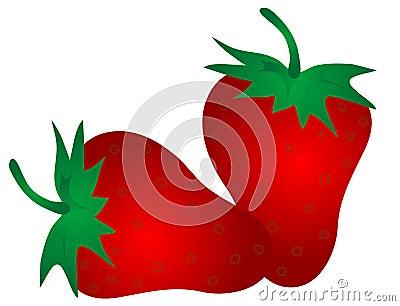 Grafisk jordgubbe