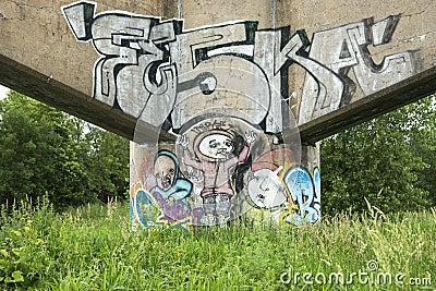 Grafitti Redaktionell Fotografering för Bildbyråer