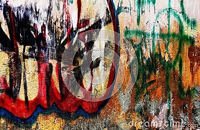 Grafittis urbanos do grunge