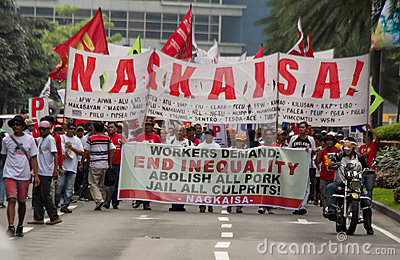 Graft and corruption protest in Manila, Philippines Editorial Stock Photo