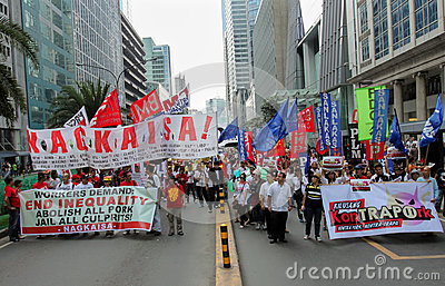 Graft and corruption protest in Manila, Philippines Editorial Image