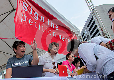 Graft and corruption protest in Manila, Philippines Editorial Photography