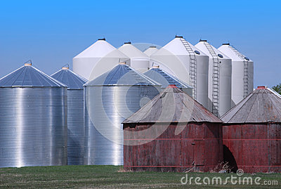Grain Bins on the Prairie
