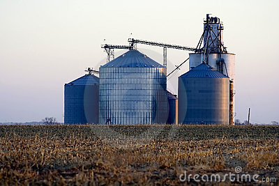 Grain elevator in the Midwest United States