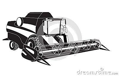 Grain Harvester Combine. Stock Image - Image: 35861381
