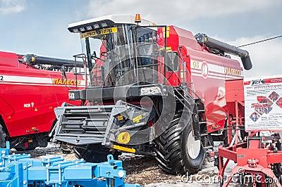 Grain-harvesting self-propelled harvester Editorial Photography