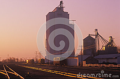 Grain silo Editorial Image