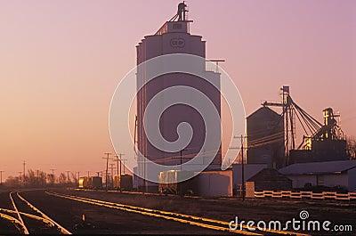 Grain silo Editorial Image