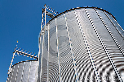 Grain silo containers detail