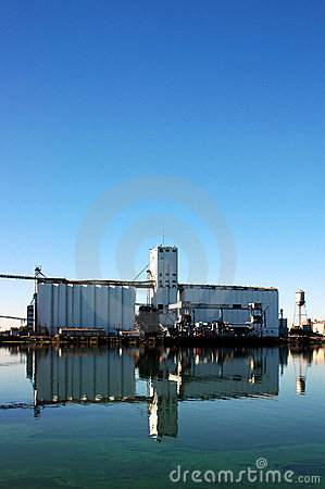 Grain Silo Reflection