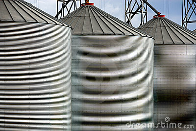 Grain Silos Royalty Free Stock Image - Image: 5107366