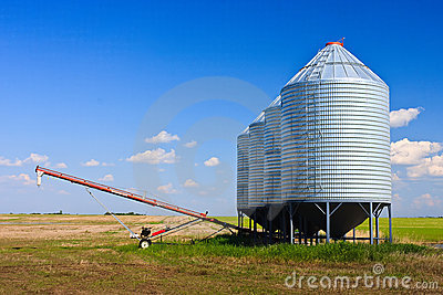 Grain Silos and Auger