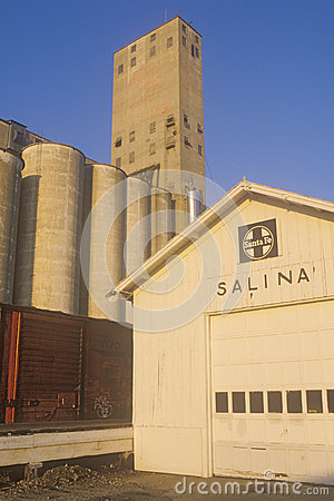Grain silos in Salina Editorial Photography