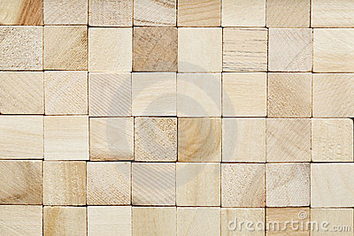 Grained wooden block background