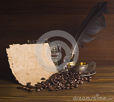 Free Grains And Cup Of Coffee Royalty Free Stock Photo - 62404595