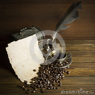 Free Grains And Cup Of Coffee Royalty Free Stock Image - 62404626