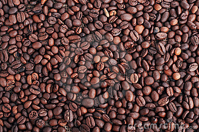 Grains of coffee.
