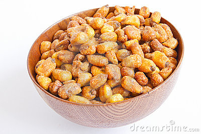 grains corn fried