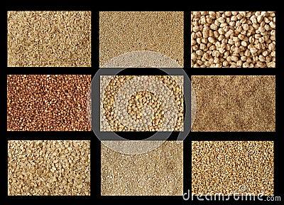 Grains textures