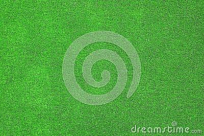 A grama artificial verde plat
