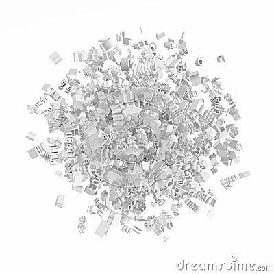 Grammar Cluster, White