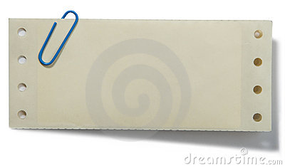 Grampo de papel e nota