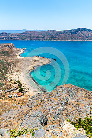 Gramvousa island near Crete, Greece. Balos beach. Magical turquoise waters, lagoons, beaches