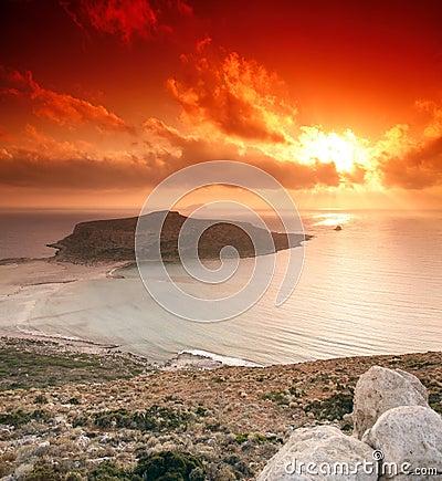 Free Gramvousa Sunset Royalty Free Stock Images - 1014189