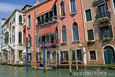 Gran Canal and historic buildings Editorial Image