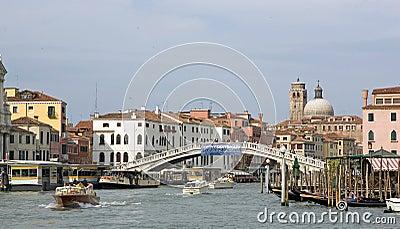 Gran Canal and Scalzi bridge Editorial Stock Photo