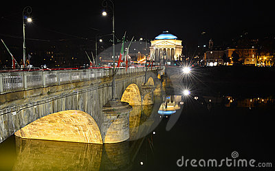 Gran Madre church and bridge in Turin