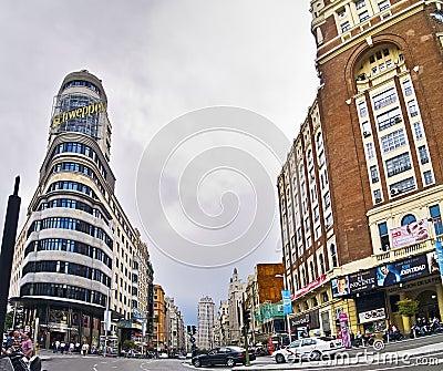 Gran Via in Madrid Editorial Stock Image