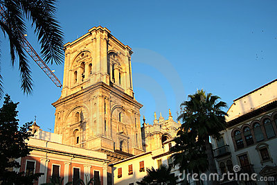 Granada Cathedral at sunset
