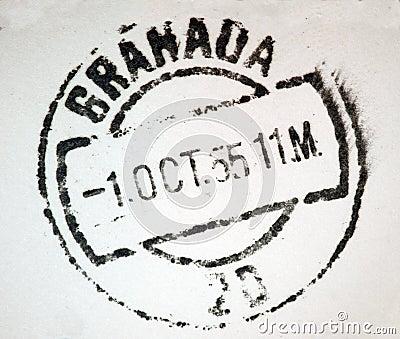 Granada Spain Postmark