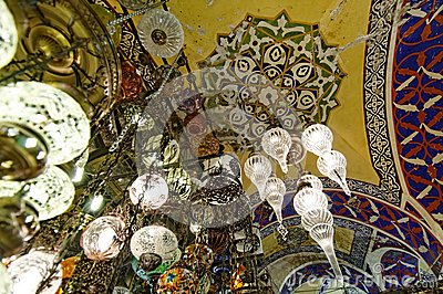Grand Bazaar ceiling in Istanbul