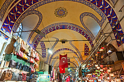 Grand bazaar shops in Istanbul. Editorial Photography