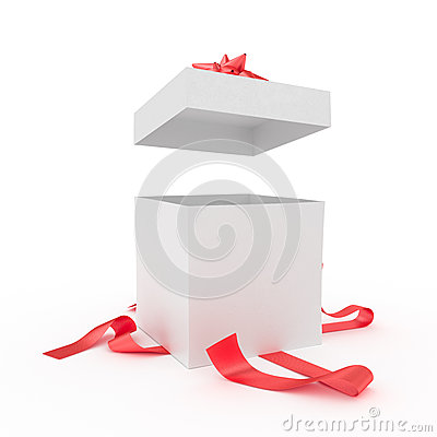 grand bo te cadeau d ball illustration stock image 46614356. Black Bedroom Furniture Sets. Home Design Ideas