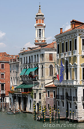 Free Grand Canal And Campanile Of San Apostoli, Venice Royalty Free Stock Photo - 12631445