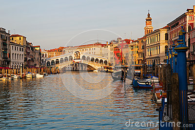 Grand Canal with Rialto Bridge