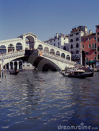 Grand Canal and Rialto Bridge, Venice, Italy
