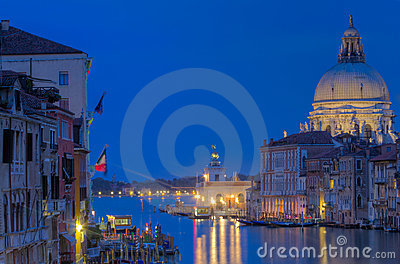 The Grand Canal and Santa Maria della Salute