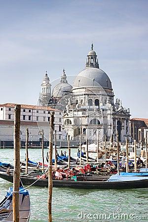 Grand Canal and Santa Maria della Salute Basilica Editorial Image