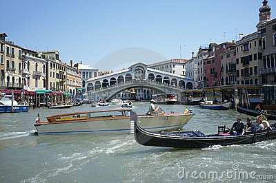 Grand Canal traffic Editorial Photo
