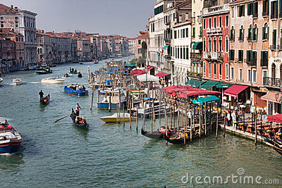 Grand Canal in Venice Editorial Photo