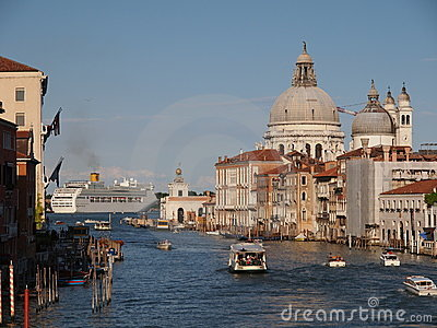 Grand Canal in Venice Editorial Photography