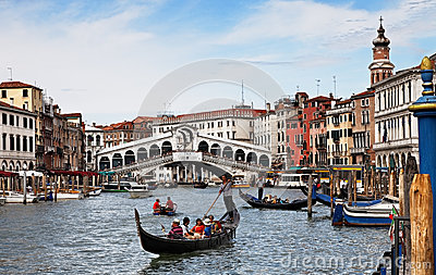 Grand Canal in Venice Editorial Image