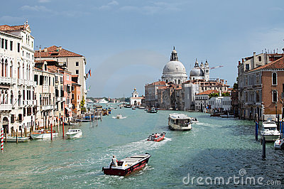 Grand Canal in Venice, Italy Editorial Stock Photo