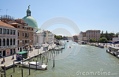 Grand Canal Venice Italy Editorial Photography