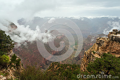 Grand Canyon Cloud Inversion Landscape