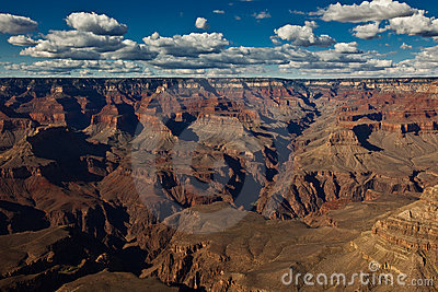 Grand Canyon view with astonishing sky